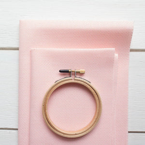 Touch of Pink Aida Cross Stitch Fabric