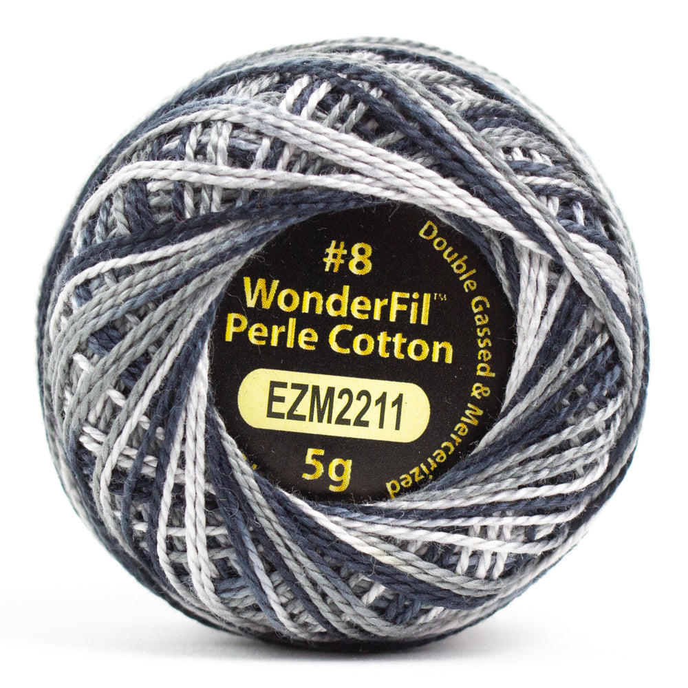 Alison Glass Variegated Wonderfil Perle Cotton - Pepper (2211)