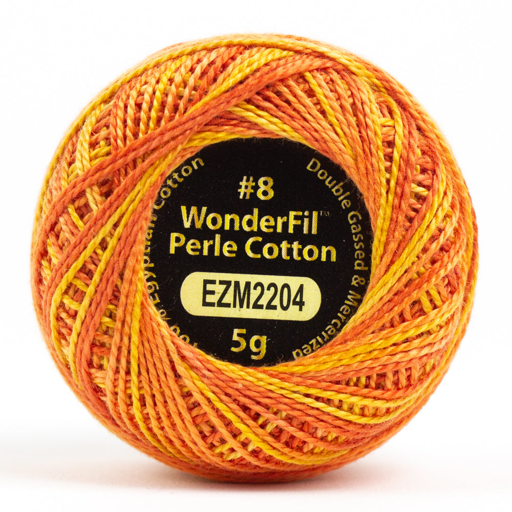 Alison Glass Variegated Wonderfil Perle Cotton - Tiger (2204)