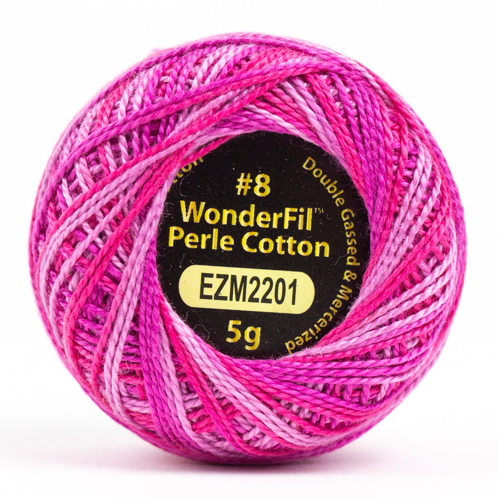 Alison Glass Variegated Wonderfil Perle Cotton - Tyrian (2201)