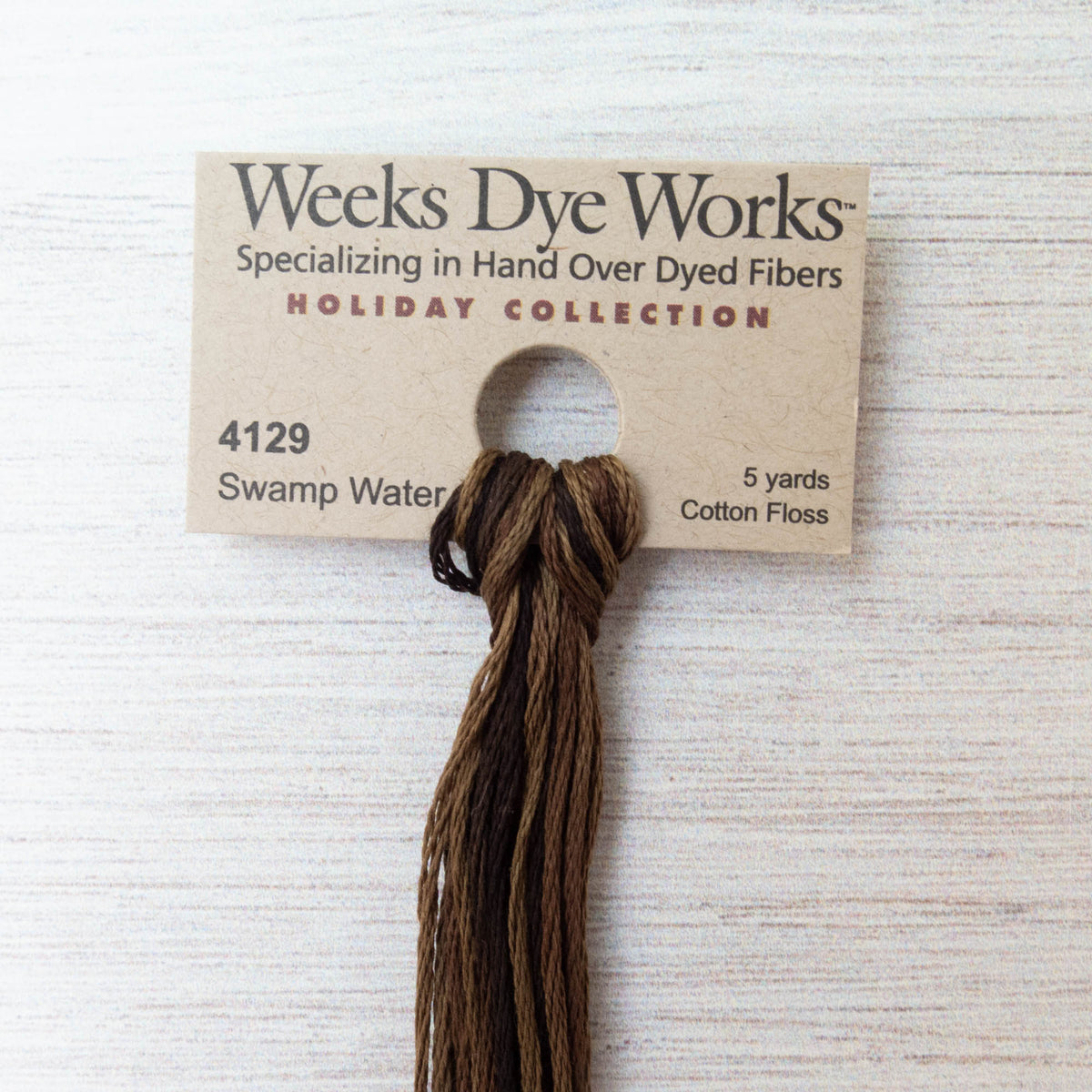 Weeks Dye Works Hand Over Dyed Embroidery Floss - Swamp Water (4129)