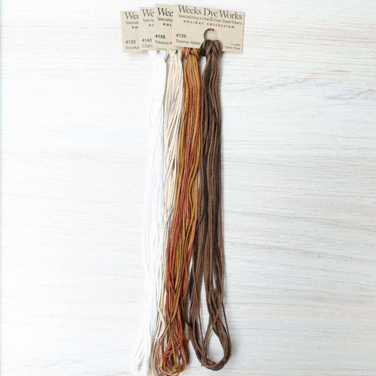 Weeks Dye Works Embroidery Floss Neutrals Collection (4 skeins)