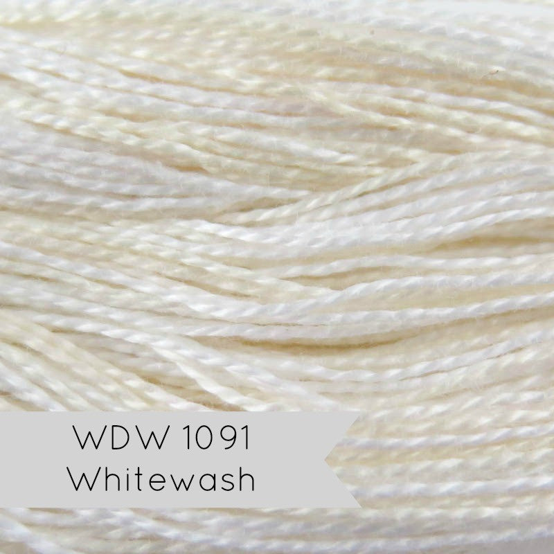 White Weeks Dye Works Hand Over-Dyed Pearl Cotton - Whitewash (Size 8) Perle Cotton - Snuggly Monkey