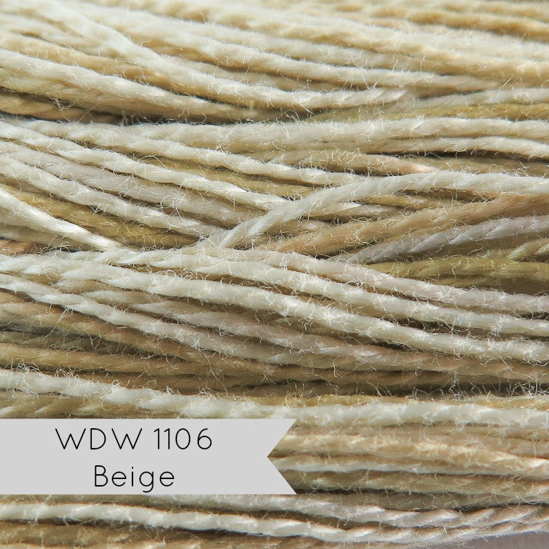 Weeks Dye Works Hand Over-Dyed Pearl Cotton - Size 8 Beige (WDW 1106) Perle Cotton - Snuggly Monkey