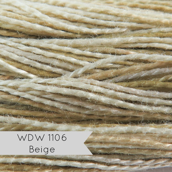 Weeks Dye Works Hand Over-Dyed Pearl Cotton - Size 8 Beige (WDW 1106)