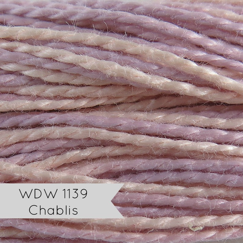 Weeks Dye Works Hand Over-Dyed Pearl Cotton - Size 5 Chablis Perle Cotton - Snuggly Monkey