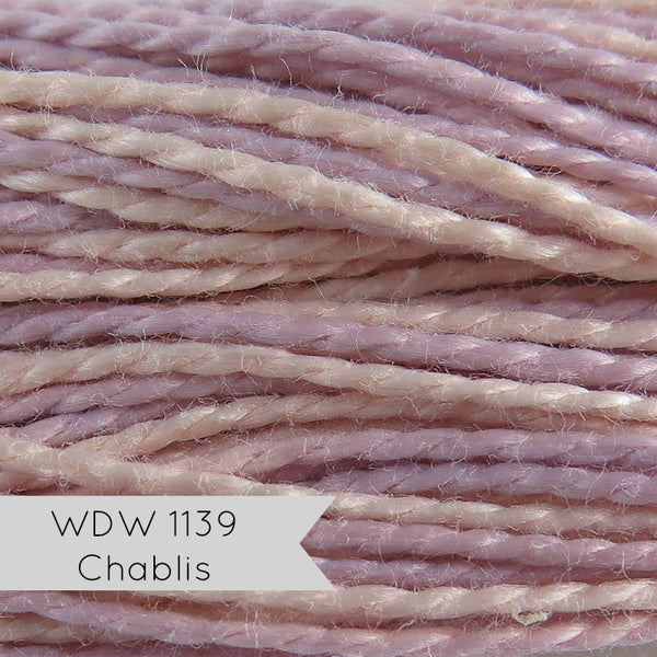 Weeks Dye Works Hand Over-Dyed Pearl Cotton - Size 5 Chablis