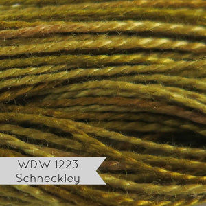 Weeks Dye Works Hand Over-Dyed Pearl Cotton - Schneckley (Size 8)