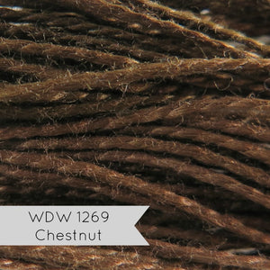 Weeks Dye Works Hand Over-Dyed Pearl Cotton - Size 8 Chestnut Perle Cotton - Snuggly Monkey