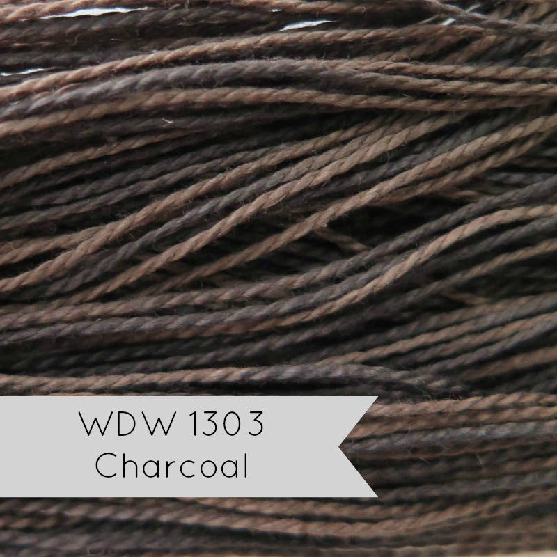 Weeks Dye Works Hand Over-Dyed Perle Cotton - Size 5 Charcoal Perle Cotton - Snuggly Monkey