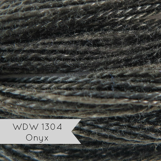 Weeks Dye Works Hand Over-Dyed Pearl Cotton - Size 8 Onyx 1304