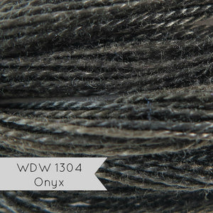 Weeks Dye Works Hand Over-Dyed Pearl Cotton - Size 8 Onyx 1304 Perle Cotton - Snuggly Monkey