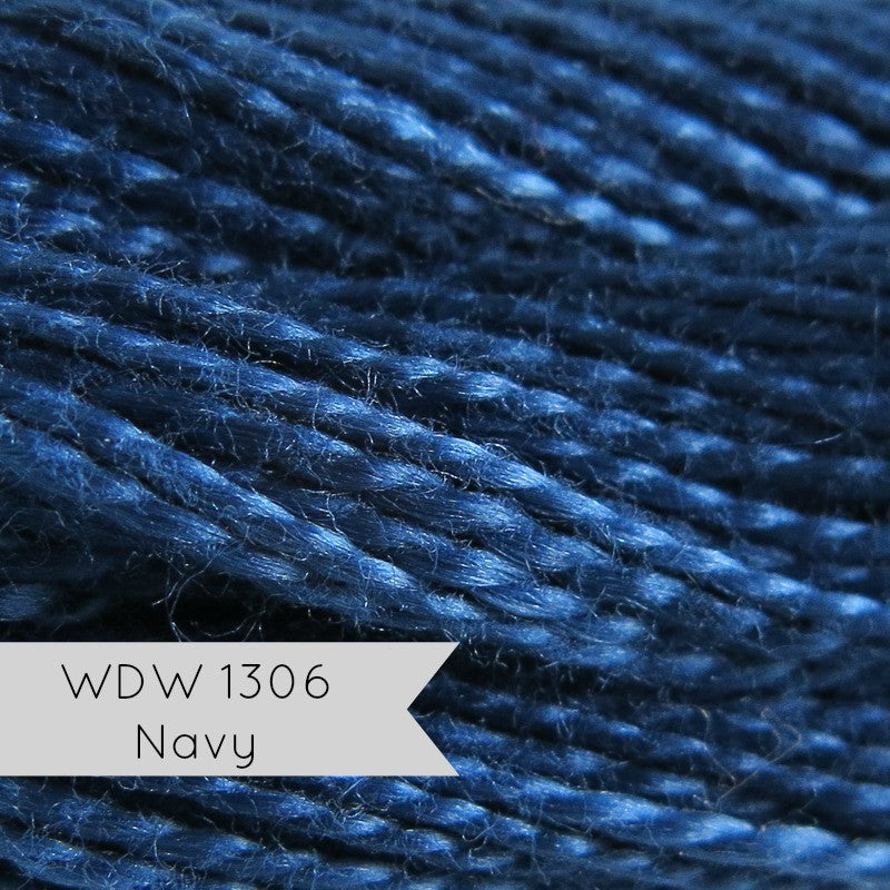 Weeks Dye Works Hand Over-Dyed Pearl Cotton - Size 8 Navy Perle Cotton - Snuggly Monkey