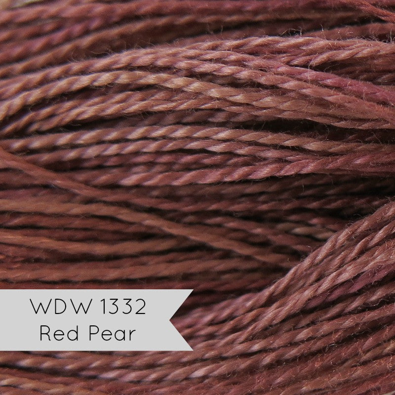 Weeks Dye Works Pearl Cotton - Size 8 Red Pear Perle Cotton - Snuggly Monkey