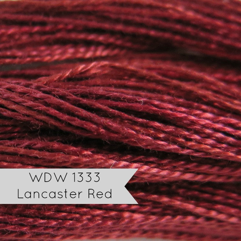 Weeks Dye Works Hand Over-Dyed Pearl Cotton Thread - Size 8 Lancaster Red Perle Cotton - Snuggly Monkey