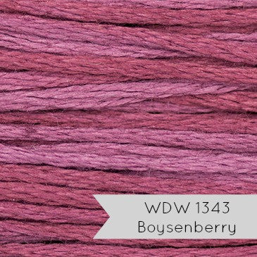 Weeks Dye Works Hand Over Dyed Embroidery Floss - Boysenberry (1343)