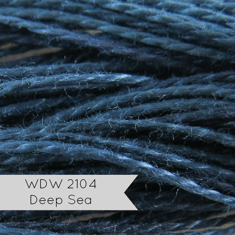 Weeks Dye Works Pearl Cotton Thread - Size 8 Deep Sea Perle Cotton - Snuggly Monkey