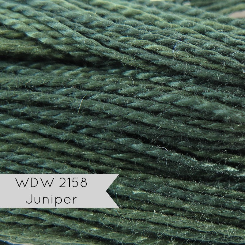 Weeks Dye Works Hand Over-Dyed Pearl Cotton - Size 5 Juniper Perle Cotton - Snuggly Monkey