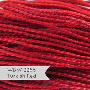 Turkish Red Weeks Dye Works Hand Over-Dyed Perle Cotton - Size 5