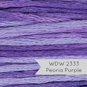 Weeks Dye Works Hand Over Dyed Embroidery Floss - Peoria Purple (2333) Floss - Snuggly Monkey