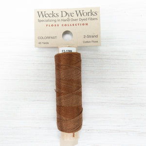 Weeks Dye Works 2 Strand Floss - Chestnut (1269)