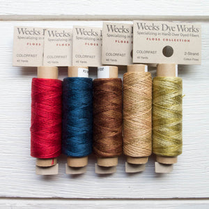 Weeks Dye Works 2 Strand Floss - Warm and Cozy Set Floss - Snuggly Monkey