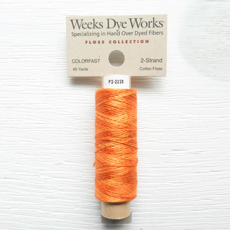 Weeks Dye Works 2 Strand Floss - Pumpkin Floss - Snuggly Monkey
