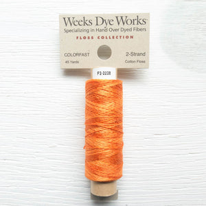 Weeks Dye Works 2 Strand Floss - Pumpkin