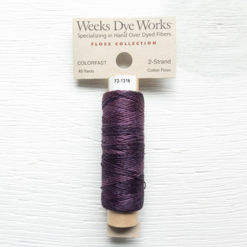 Weeks Dye Works 2 Strand Floss - Mulberry Floss - Snuggly Monkey