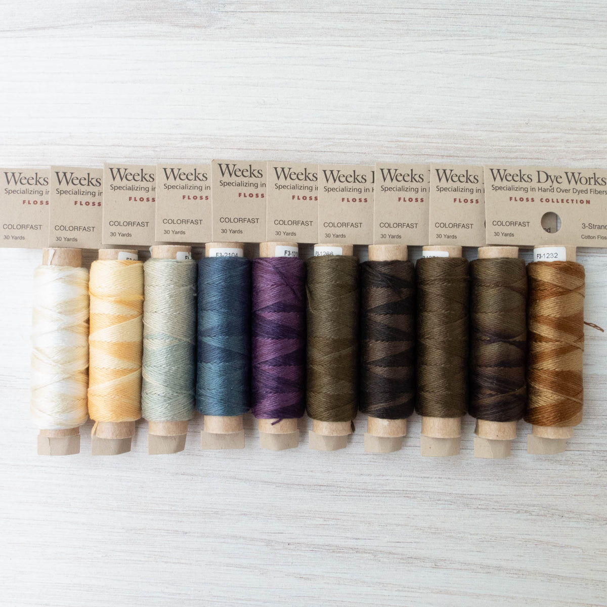 Weeks Dye Works 3 Strand Floss - Forest Trail Collection