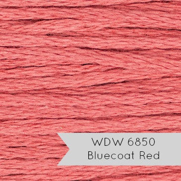 Weeks Dye Works Hand Over Dyed Embroidery Floss - Bluecoat Red (6850)