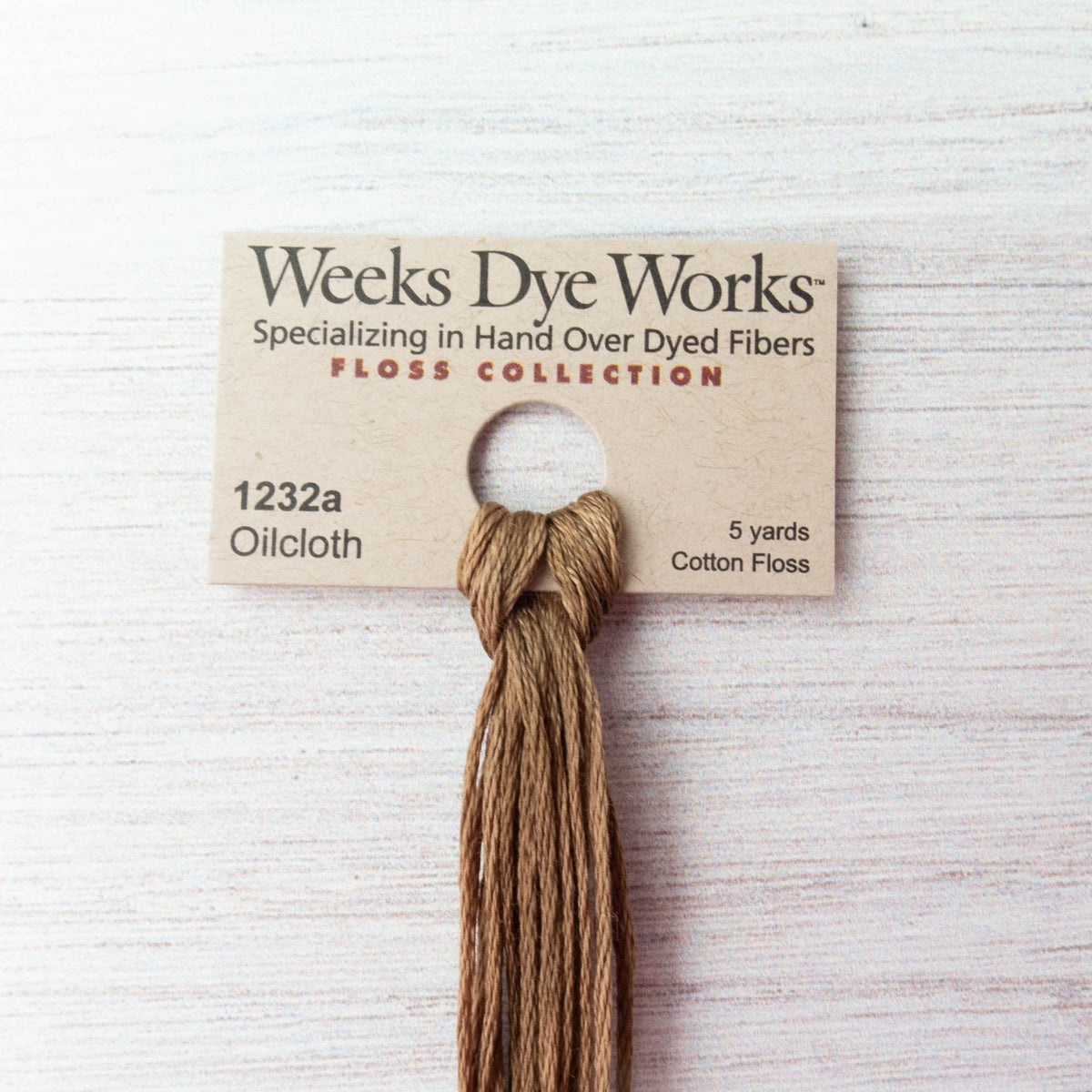 Weeks Dye Works Hand Over Dyed Embroidery Floss - Oilcloth (1232a) Floss - Snuggly Monkey