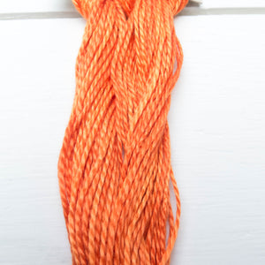 Size 3 Perle Cotton Thread - Weeks Dye Works Pumpkin (2228) Perle Cotton - Snuggly Monkey