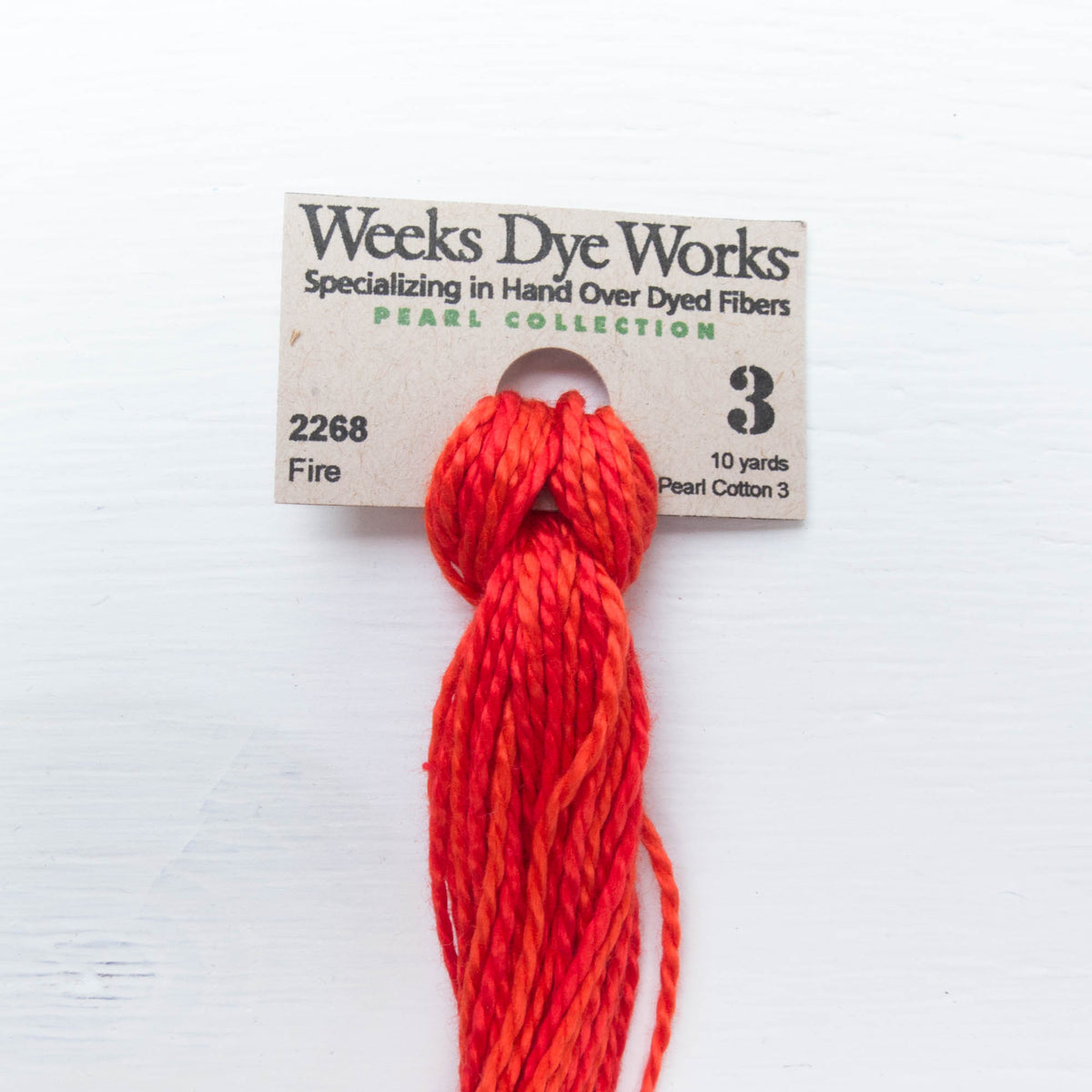 Size 3 Perle Cotton Thread - Weeks Dye Works Fire (2268) Perle Cotton - Snuggly Monkey