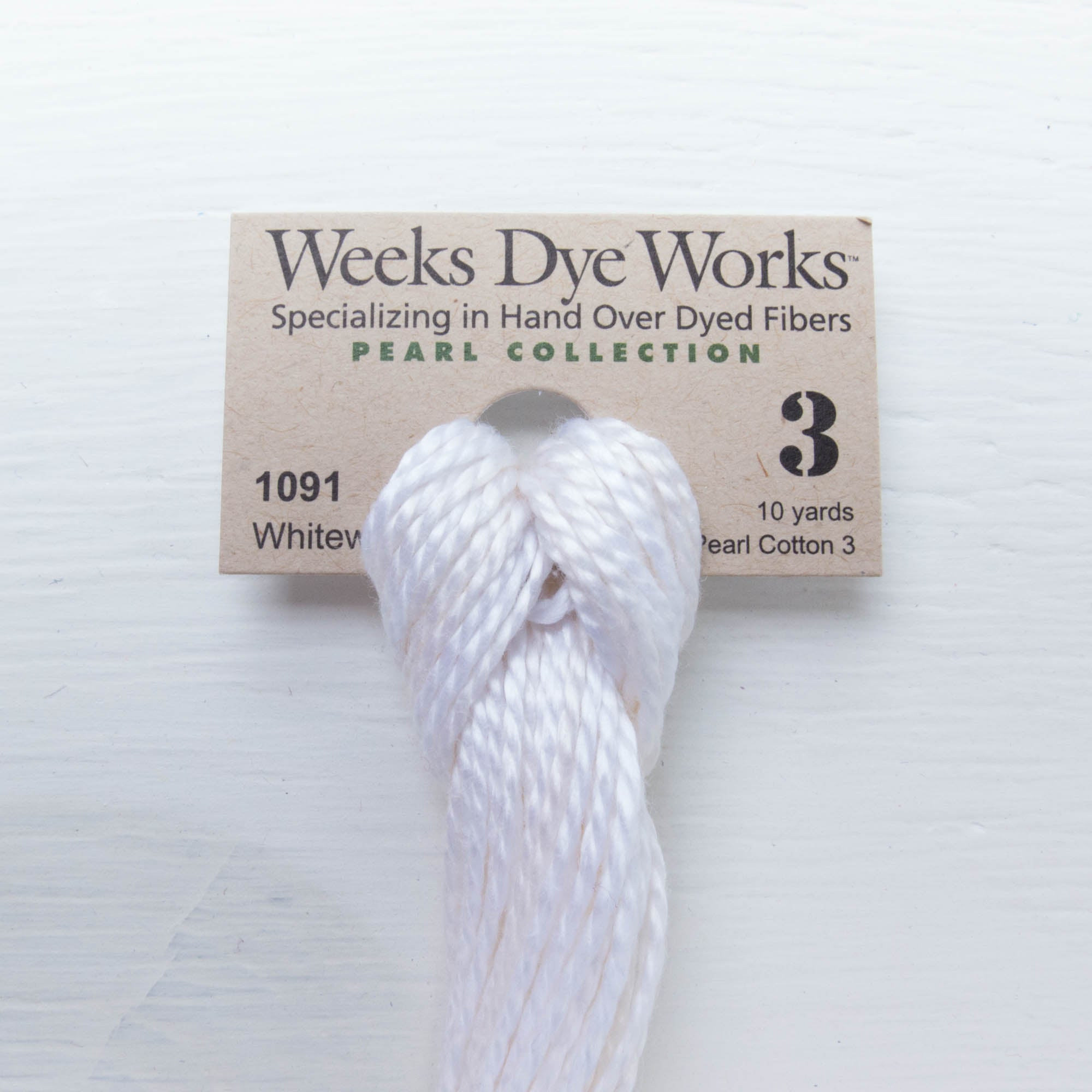 Size 3 Perle Cotton Thread - Weeks Dye Works Whitewash (1091) Perle Cotton - Snuggly Monkey