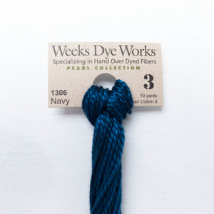 Size 3 Perle Cotton Thread - Weeks Dye Works Navy (1306)