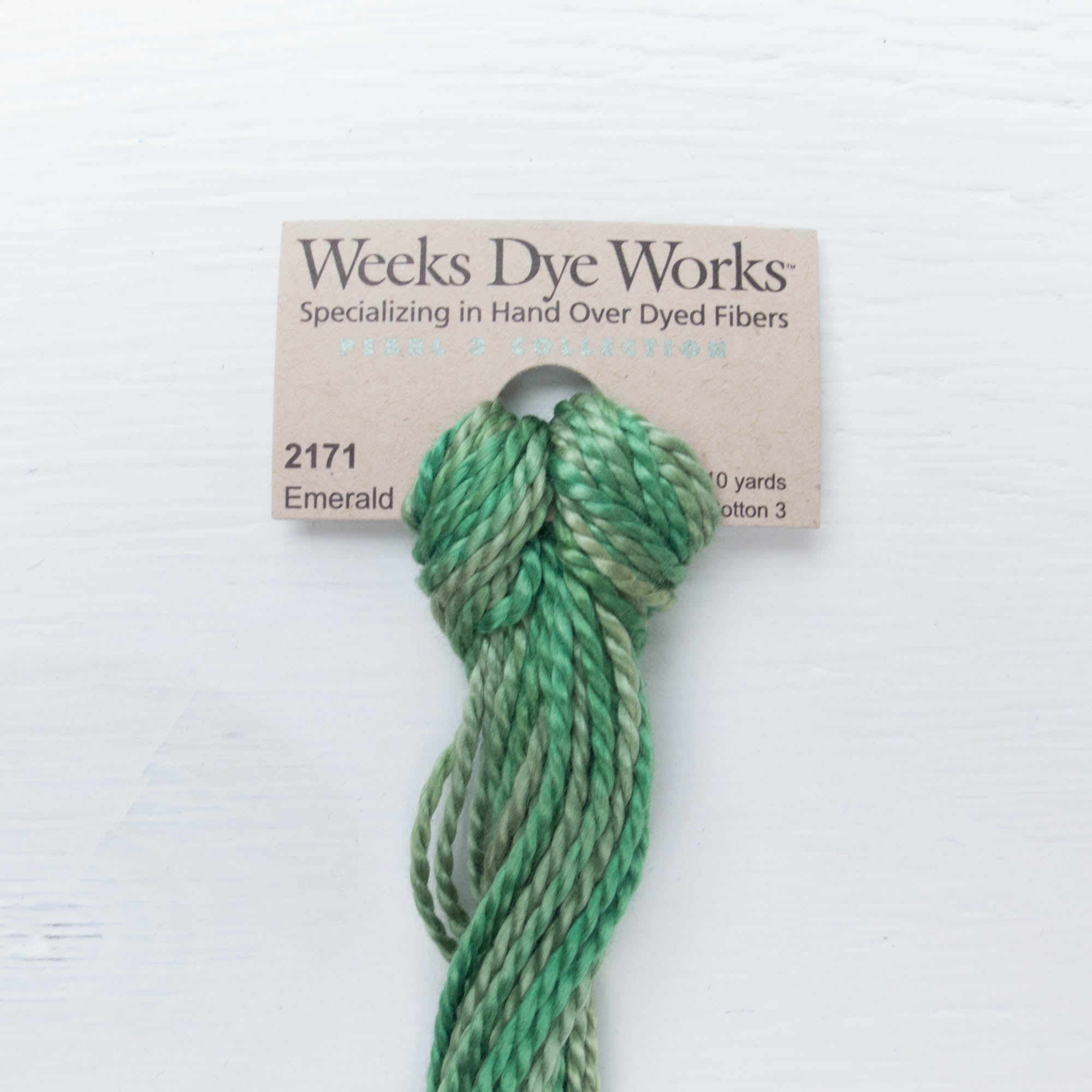 Size 3 Perle Cotton Thread - Weeks Dye Works Emerald (2171) Perle Cotton - Snuggly Monkey