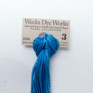 Size 3 Perle Cotton Thread - Weeks Dye Works Blue Bonnet (2339) Perle Cotton - Snuggly Monkey