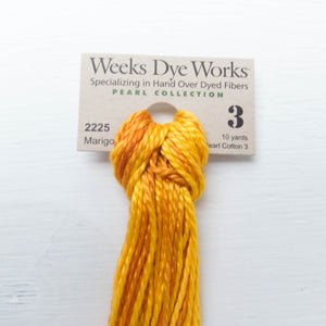Size 3 Perle Cotton Thread - Weeks Dye Works Marigold (2225)