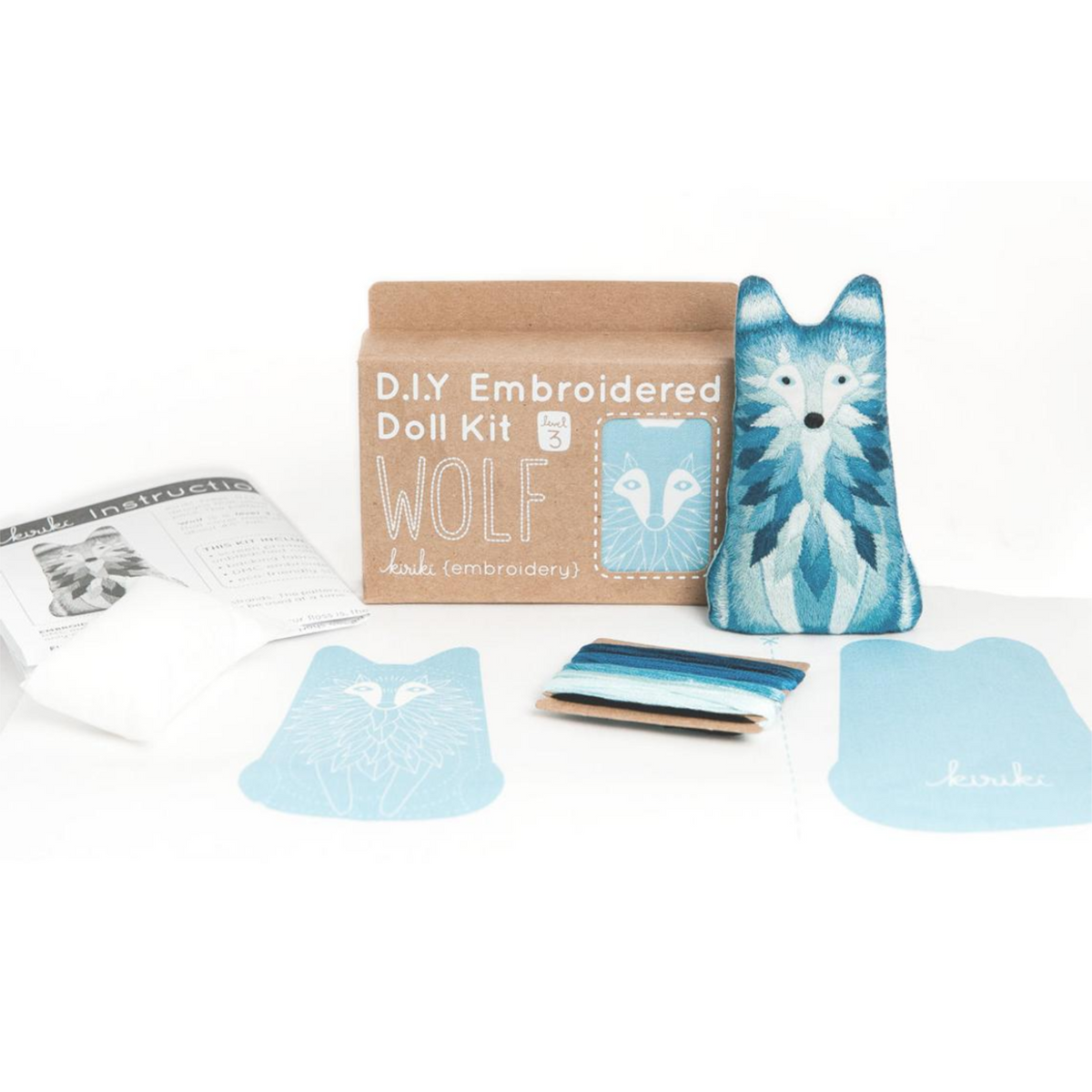 Wolf Embroidery Kit by Kiriki Press Embroidery Kit - Snuggly Monkey