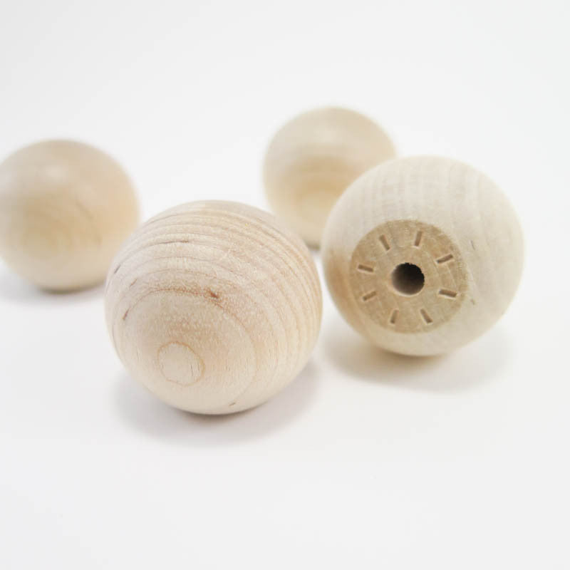 1.25 inch Wooden Knobs (4 pk) Unfinished Wood - Snuggly Monkey