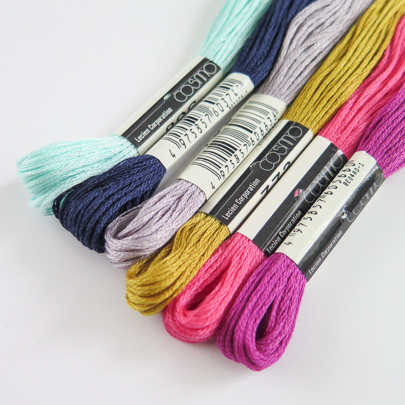 Moroccan Moth Embroidery Thread Set Floss - Snuggly Monkey