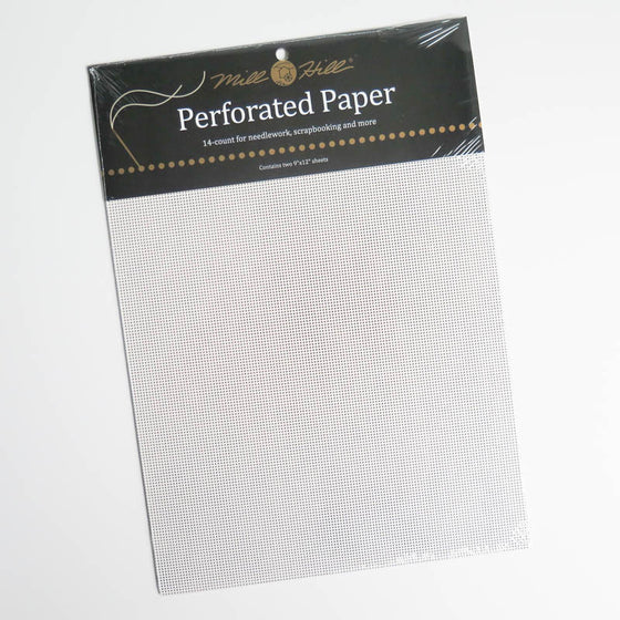 White Perforated Paper for Cross Stitch