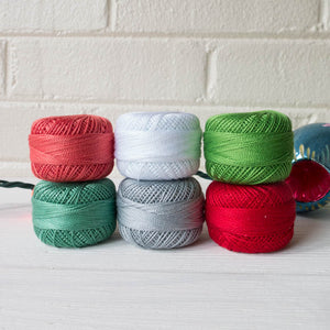 Perle Cotton Thread Set - Modern Christmas