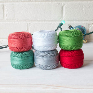 Perle Cotton Thread Set - Modern Christmas Perle Cotton - Snuggly Monkey