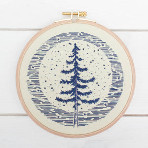 cozyblue Embroidery Pattern :: Moonlight Pine