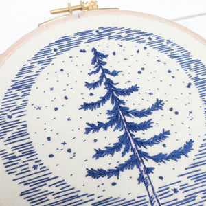 cozyblue Embroidery Pattern :: Moonlight Pine Patterns - Snuggly Monkey
