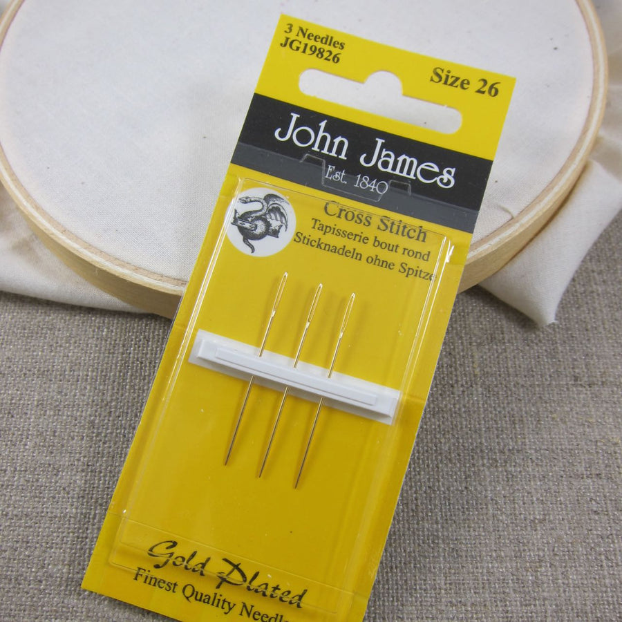John James Gold Plated Cross Stitch Needles Needles - Snuggly Monkey