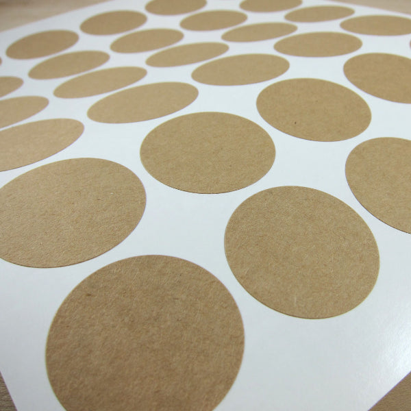 1.5 inch Circle Kraft Stickers Labels - Snuggly Monkey