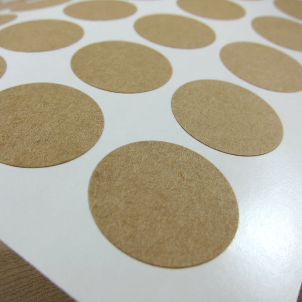 1 inch Circle Kraft Labels Labels - Snuggly Monkey